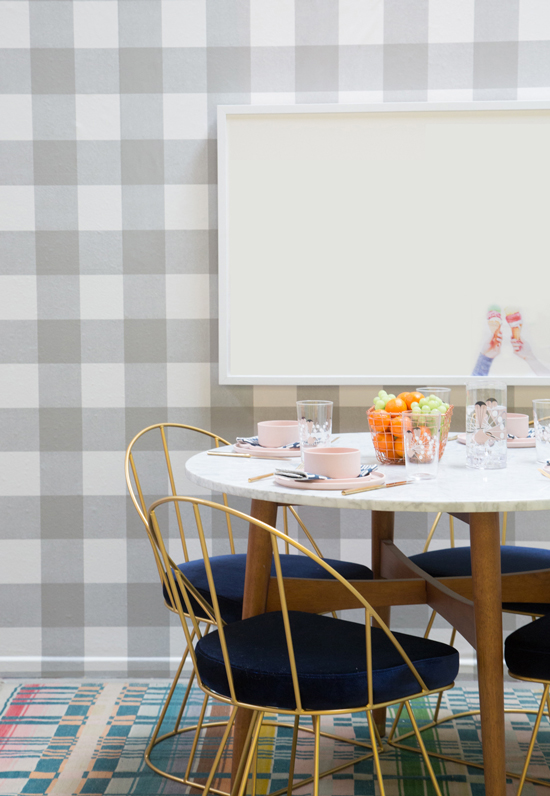 Oh Joy Pattern Adventures: A Plaid Dining Room!