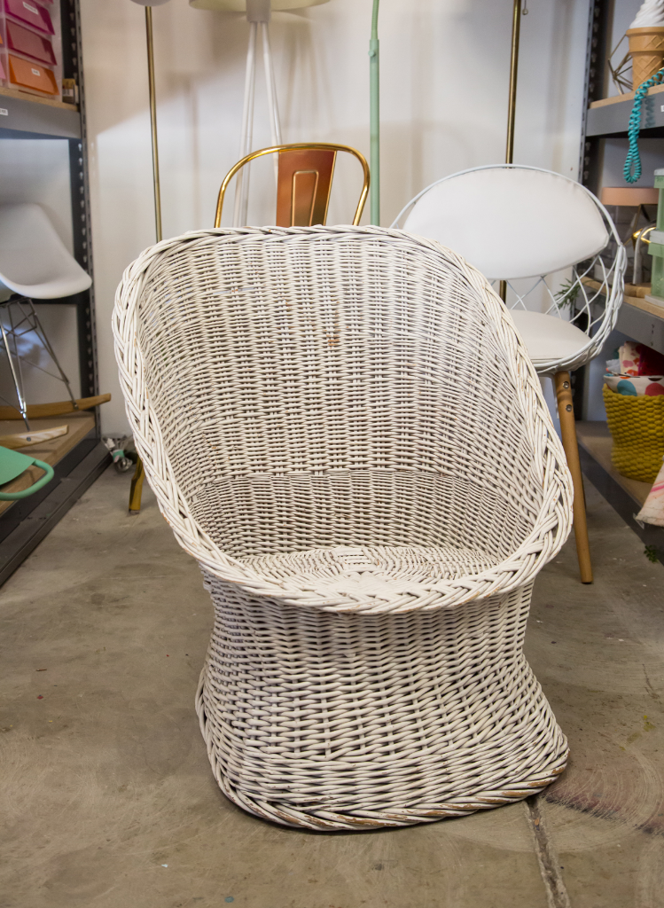 Bon An Easy Way To Transform An Old Wicker Chair / Oh Joy!