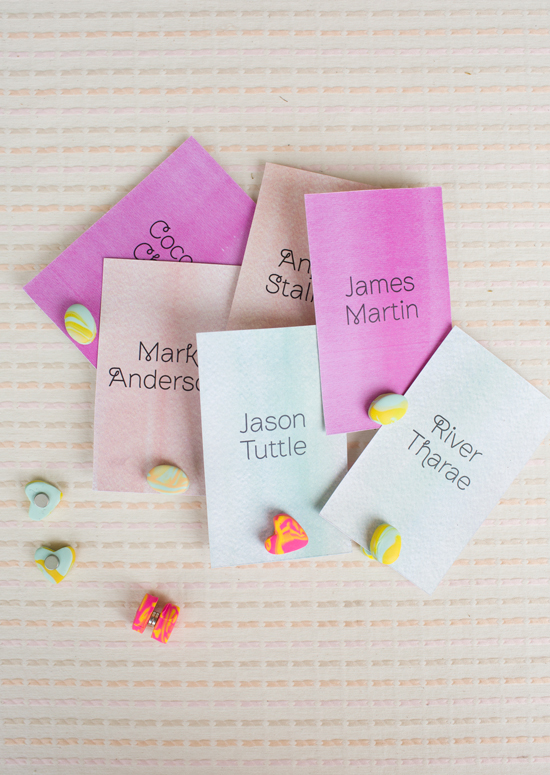 DIY Magnetic Place Card Holders