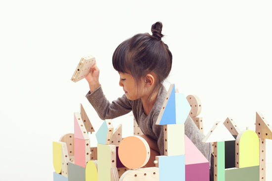 Torafu Wooden Blocks and Dowel Toy
