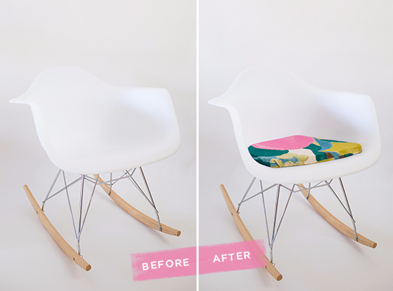 Easy DIY Cushion Covers for a Modern Chair