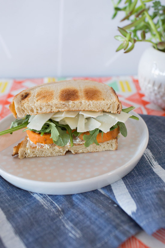 roasted sweet potato sandwich