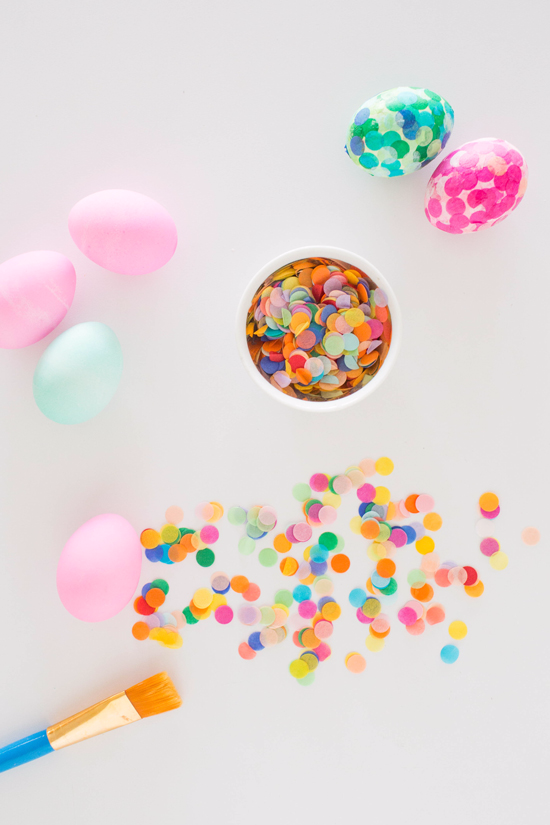 How to Make Confetti Easter Eggs