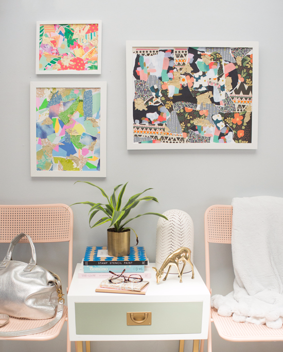 wrapping paper collage DIY