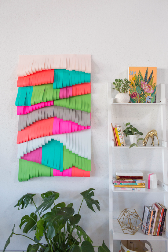 Cut Paper Wall Hanging DIY