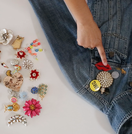 How to Wear Vintage Brooches