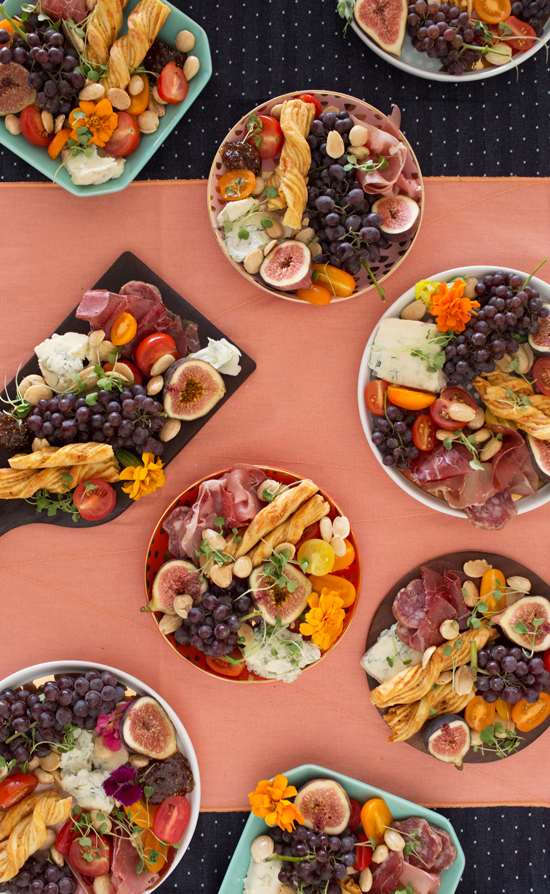 how to make a mini charcuterie and cheese plate