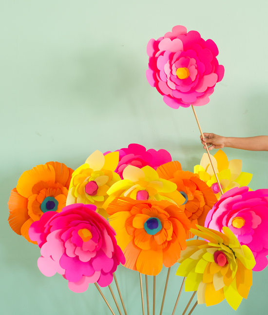 Giant paper flower diy oh joy giant paper flower diy mightylinksfo