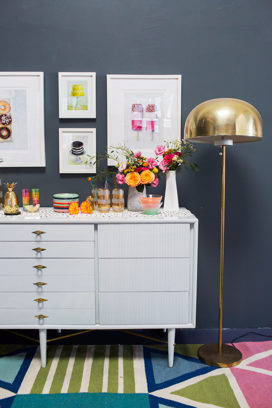 Oh Joy / 3 Ways to Style a Credenza