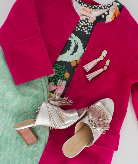 oh joy wears: pink and green