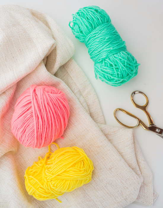 striped embroidery DIY