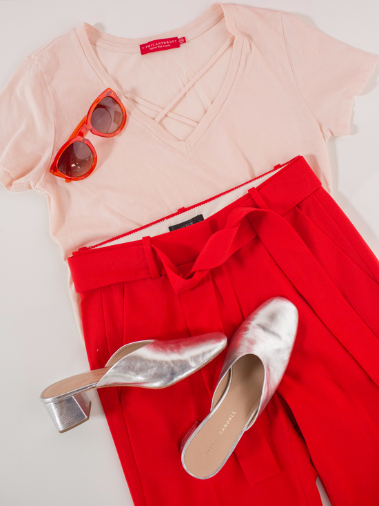 color adventures: oh joy wears red and blush