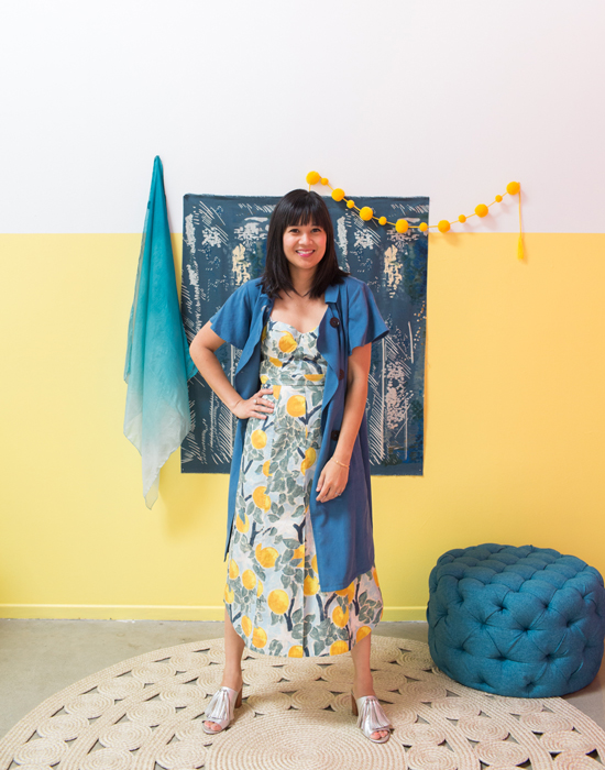 color adventures: oh joy wears yellow and blue!
