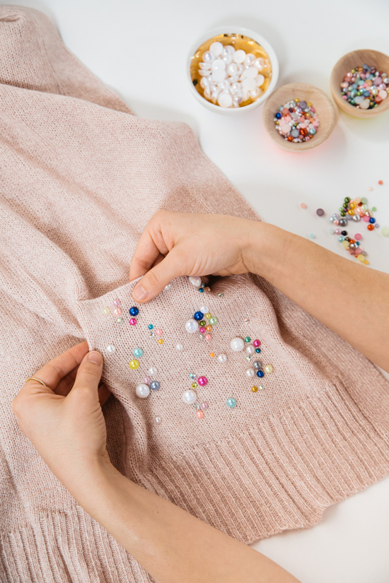 A Pretty Pear Sweater DIY / Oh Joy!