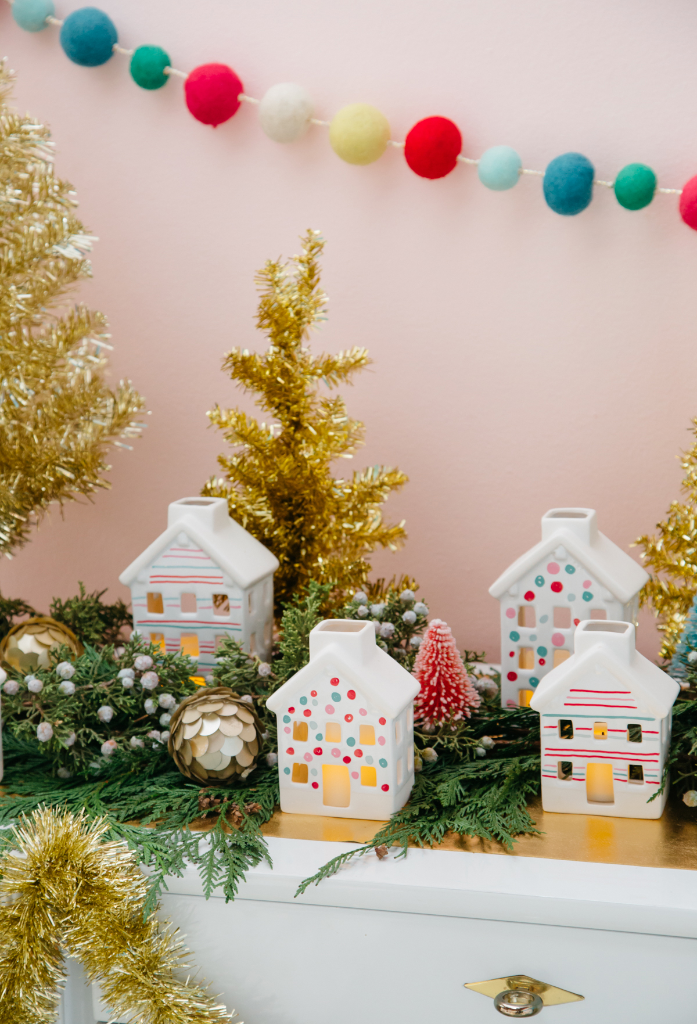 Simple Painted Holiday Houses Diy Oh Joy
