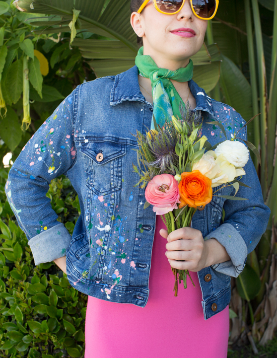 A DIY Splatter Paint Denim Jacket / Oh Joy!
