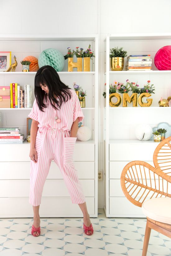 shopping for vintage: a striped jumpsuit
