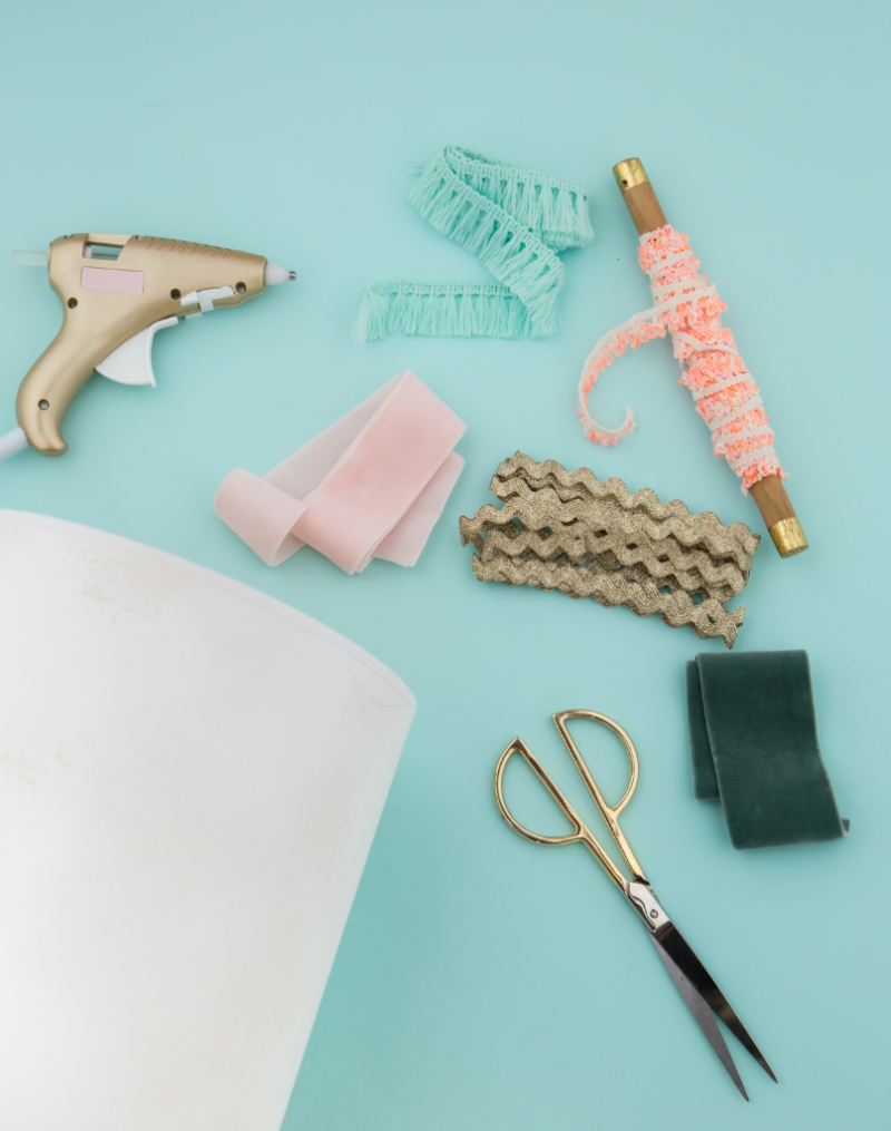 Supplies You'll Need To Make A Textured Lamp Shade / Oh Joy!