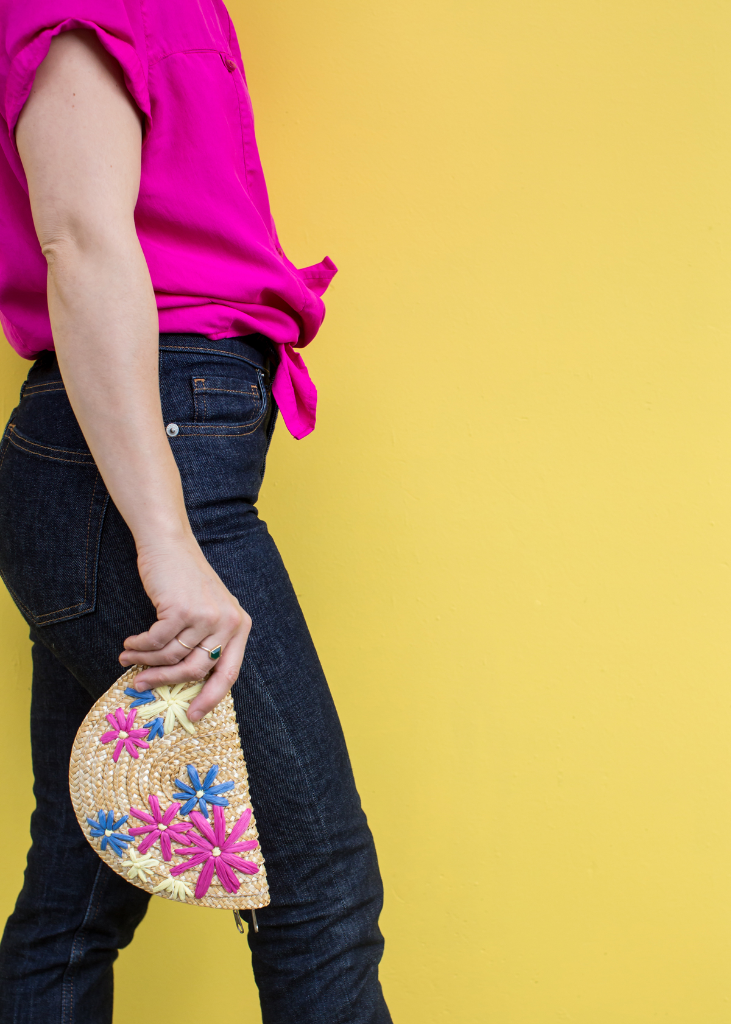 An Embroidered Clutch DIY / Oh Joy!