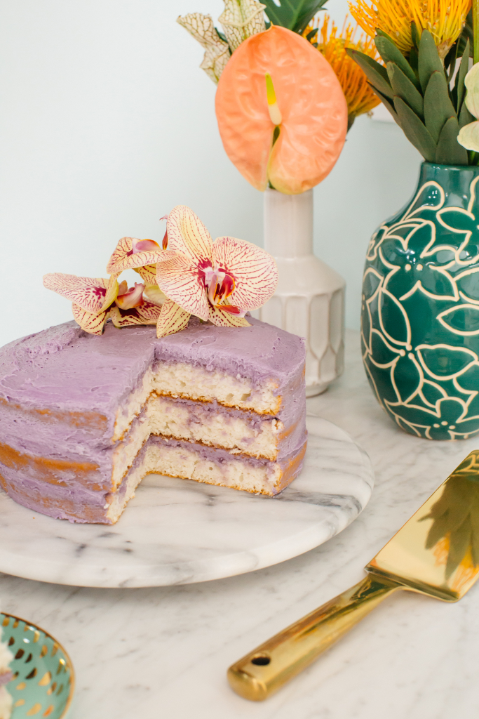 Haupia Cake with Coconut Butter Cream + Ube Frosting / Oh Joy!