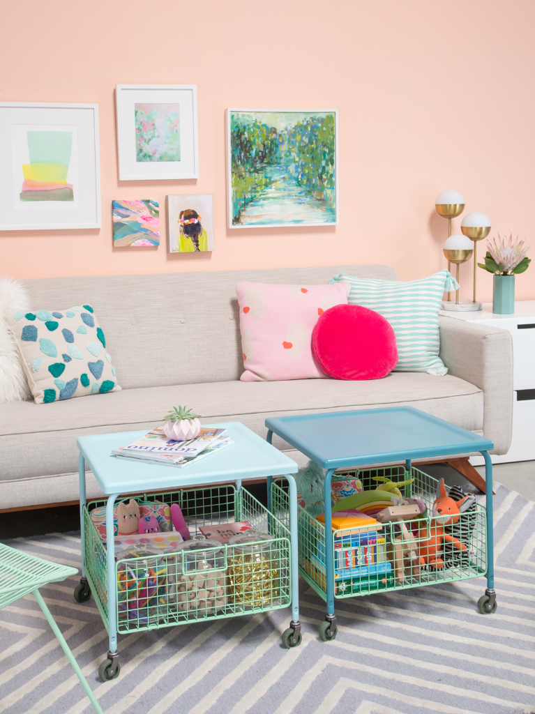 Before and After: Kid Storage Coffee Tables / Oh Joy!