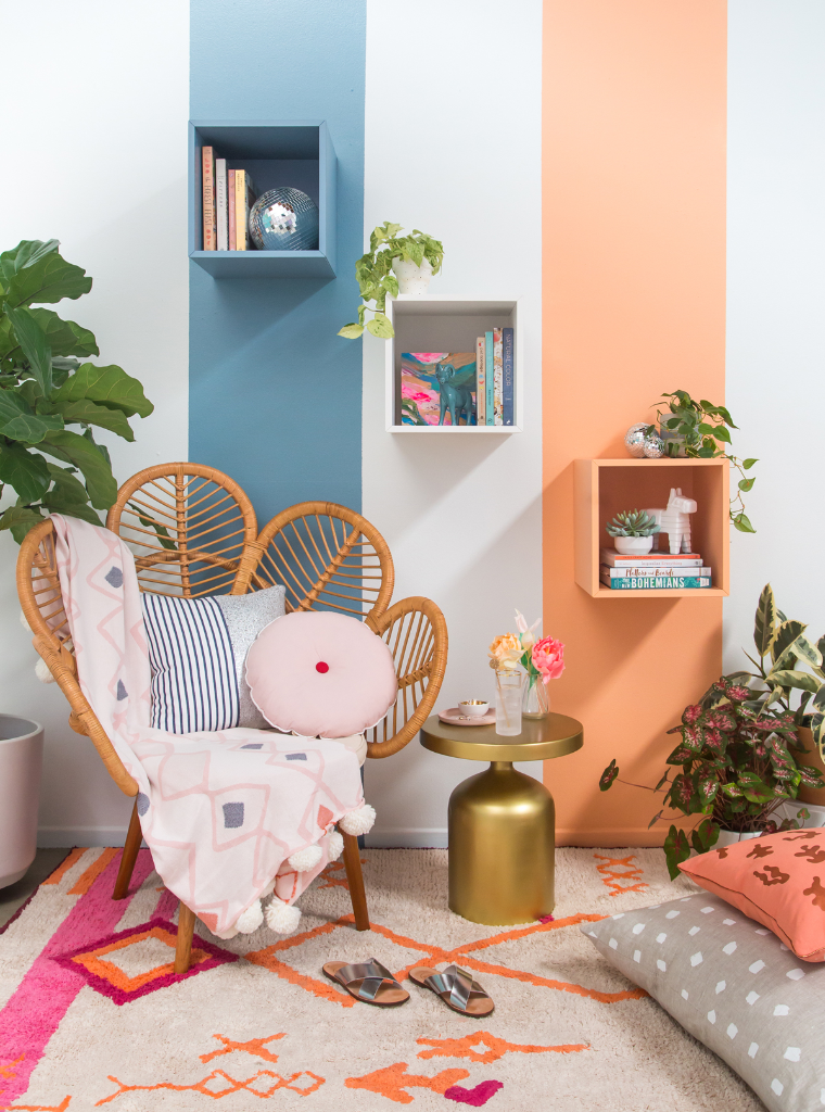 How to Style Color Blocked Cubbies / via oh Joy!