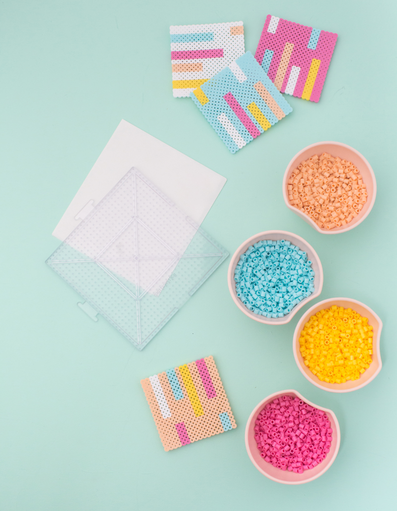 Perler Bead Coaster DIY / via Oh Joy!
