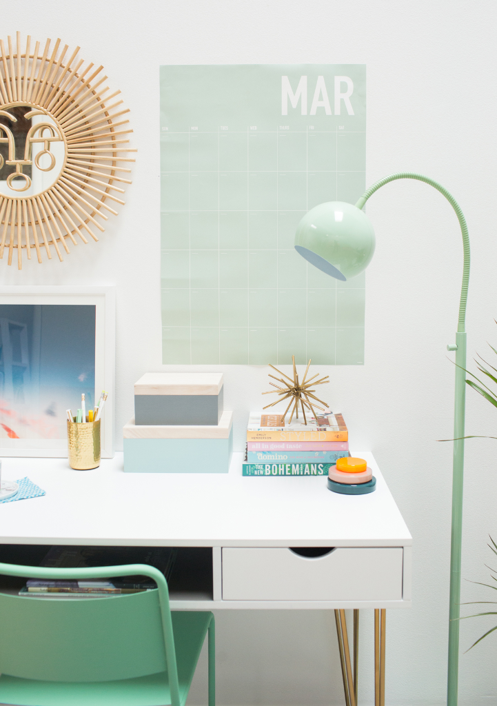 A Mint Green Office / via Oh Joy!