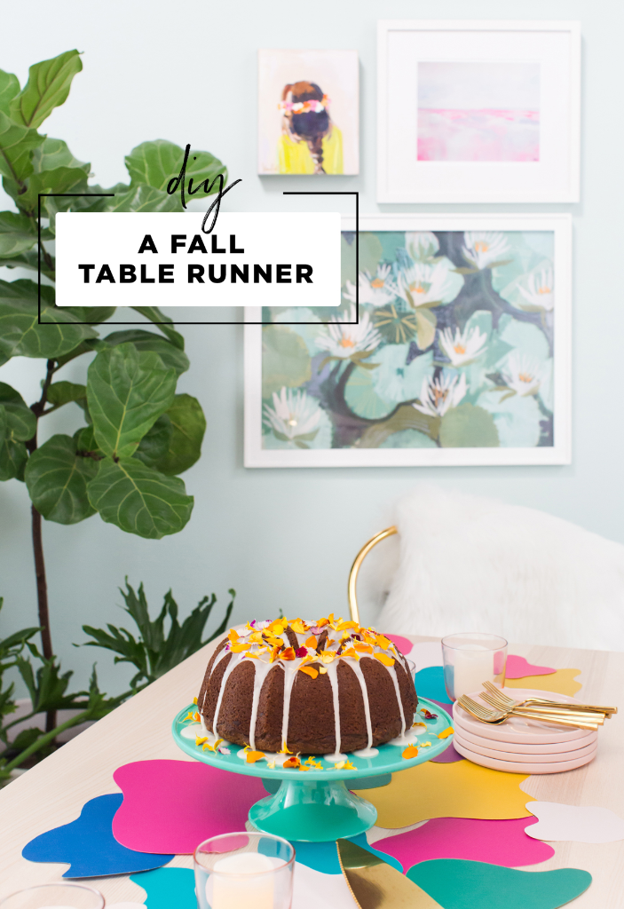 How To Make A Colorful Paper Table Runner / via Oh Joy!