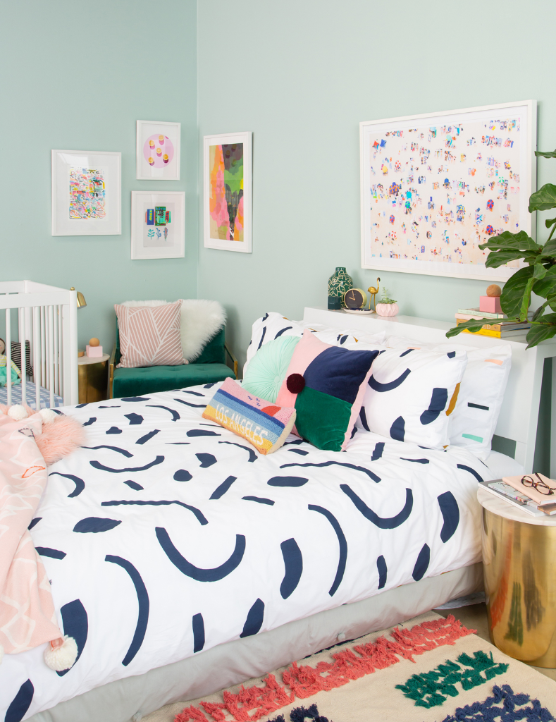 How to style a shared master and baby combo bedroom... / via Oh Joy!