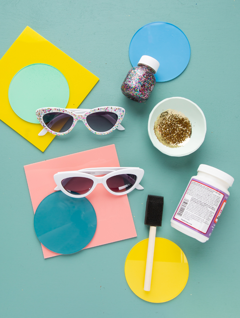 DIY Glitter Sunglasses... / via Oh Joy!
