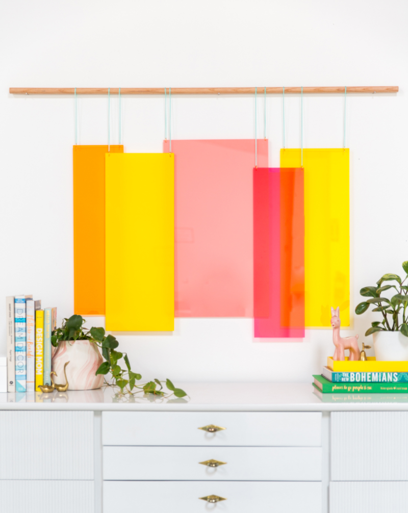 How to Make a Acrylic Wall Hanging DIY / Oh Joy!