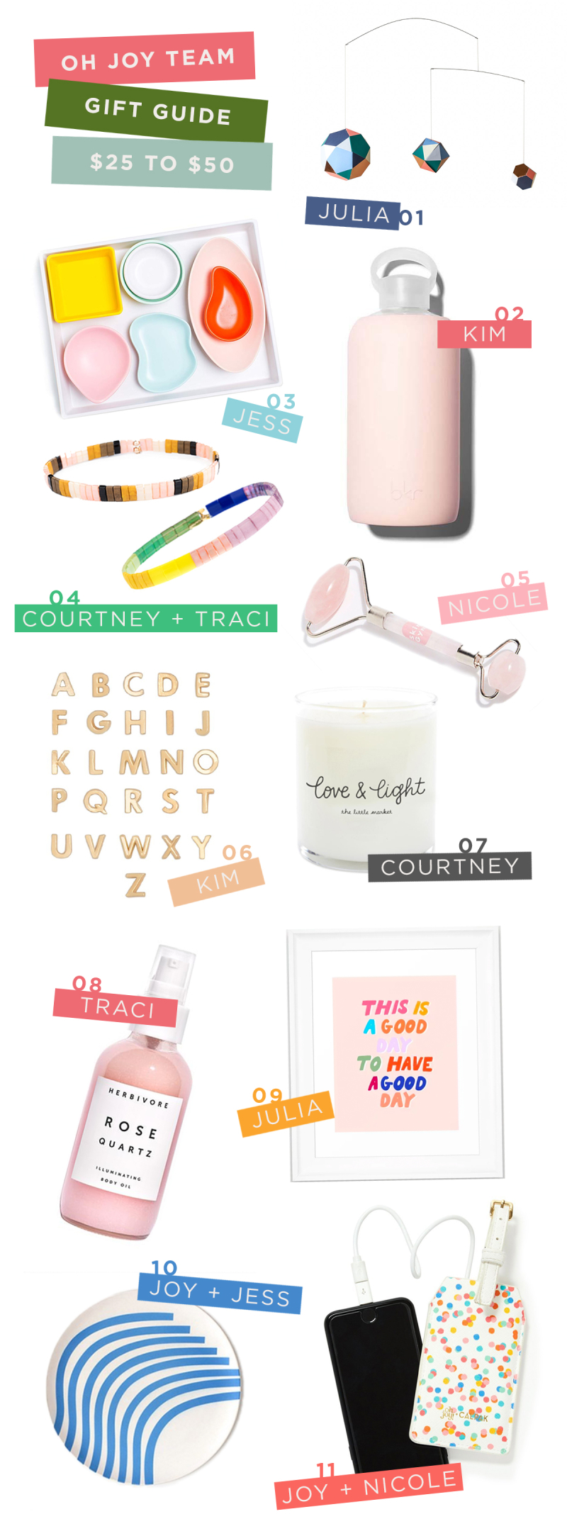 Oh Joy! Team Gift Guide $25 to $50: Joy, Jess, Julia, Kim, Nicole, Traci, Courtney / via Oh Joy!
