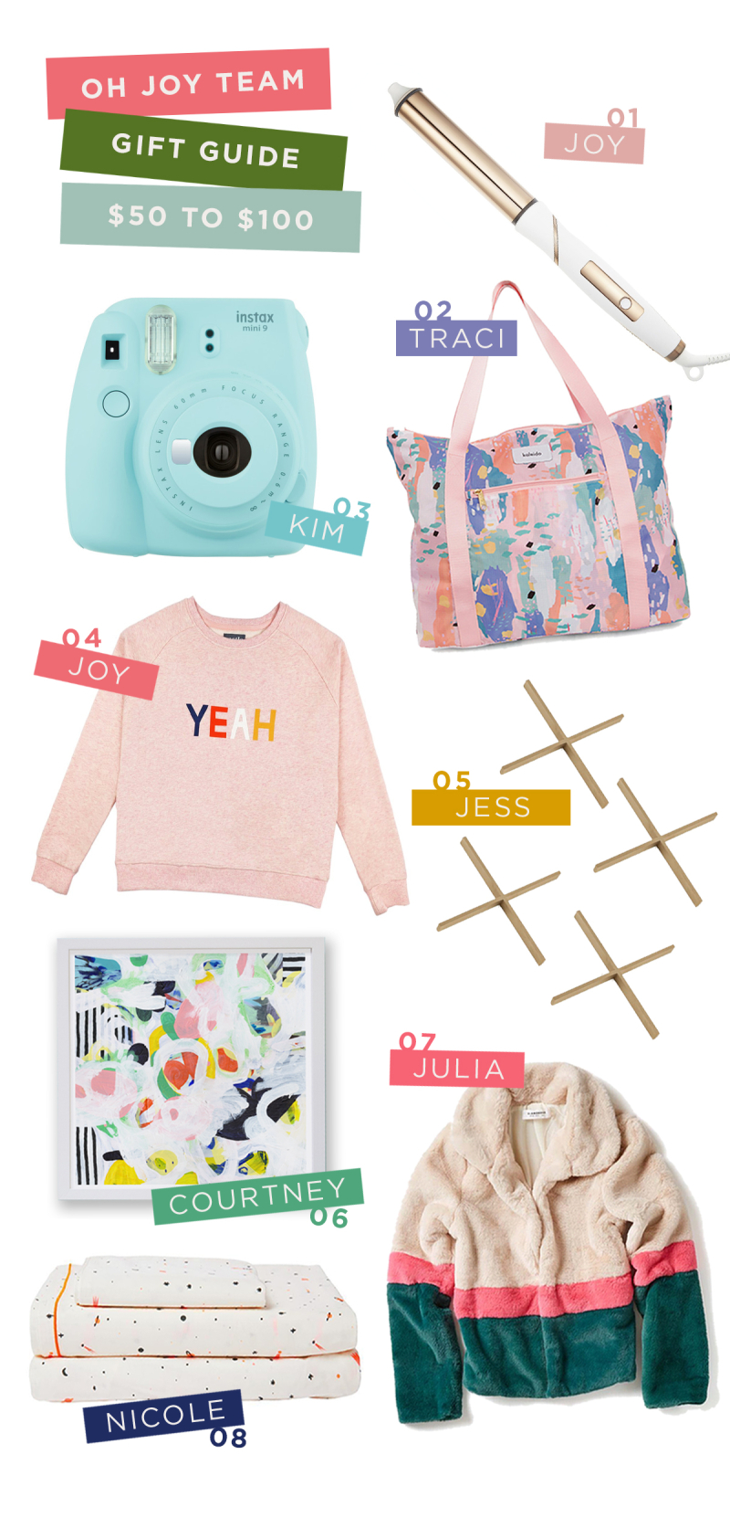Oh Joy Team Gift Guide: $50 to $100: Joy, Traci, Kim, Jess, Julia, Courtney, Nicole / via Oh Joy!