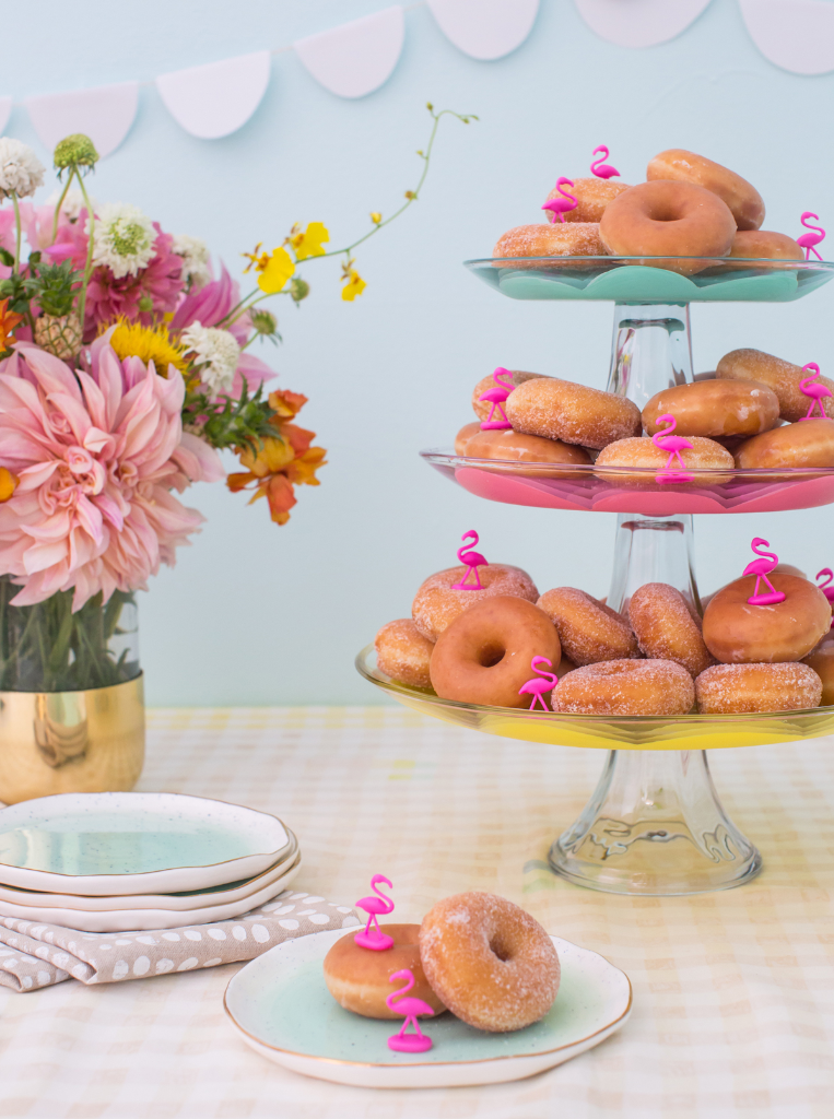A colorful painted cake stand DIY / via Oh Joy!