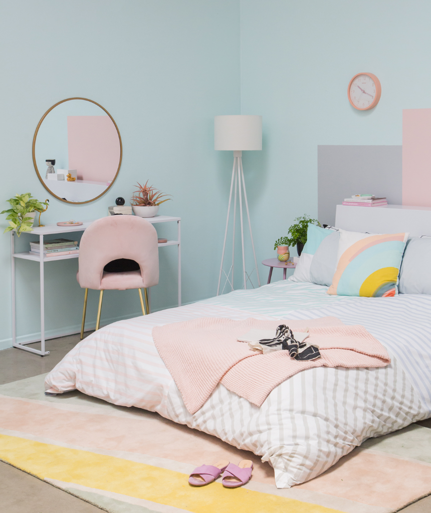 A Sophisticated Pastel Bedroom...