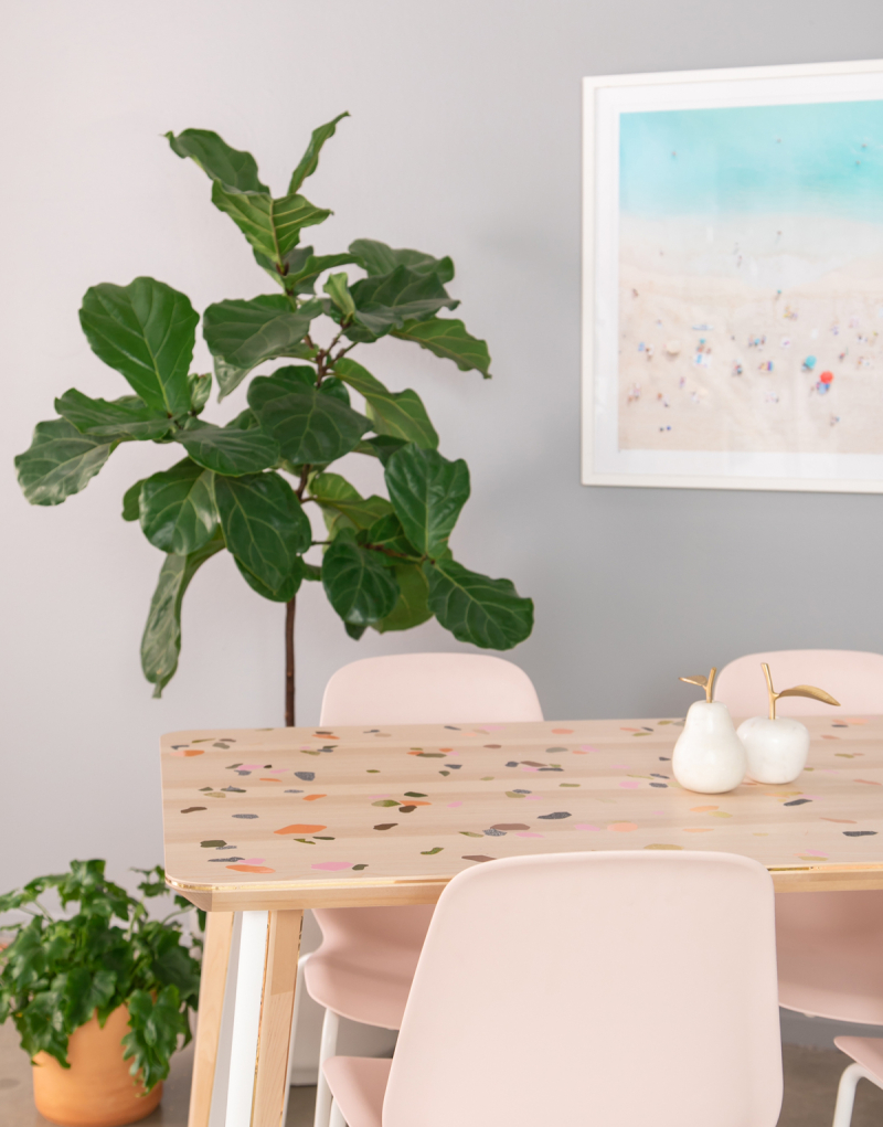 A Cool Terrazzo Table DIY... / via Oh Joy!