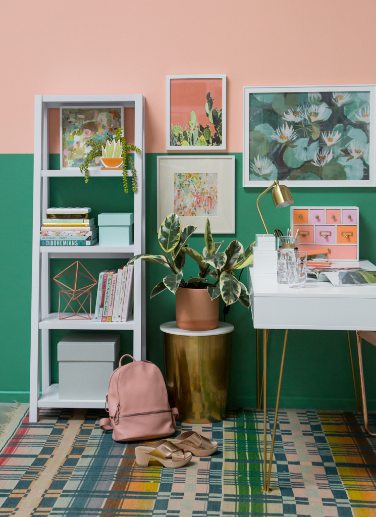 A Peach + Green Office / via Oh Joy!