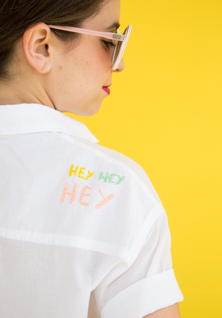 Letter T-Shirt Embroidery DIY / via Oh Joy!