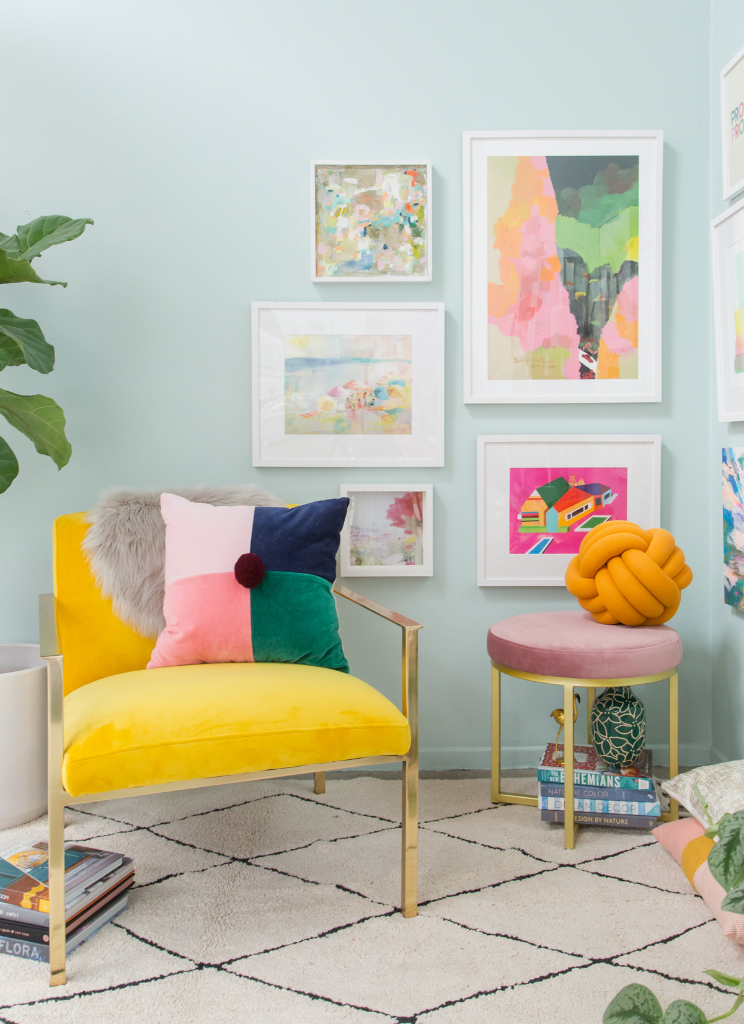 How To Style A Corner Gallery Wall... / via Oh Joy!