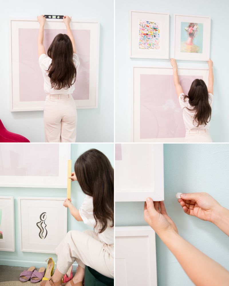 How to Create a Floor to Ceiling Gallery Wall