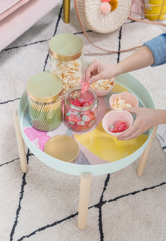 Colorful Snack Table Makeover DIY / via Oh Joy!
