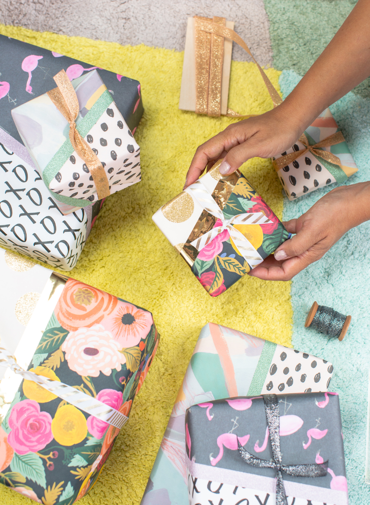 Pattern Block Gift Wrap / via Oh Joy!