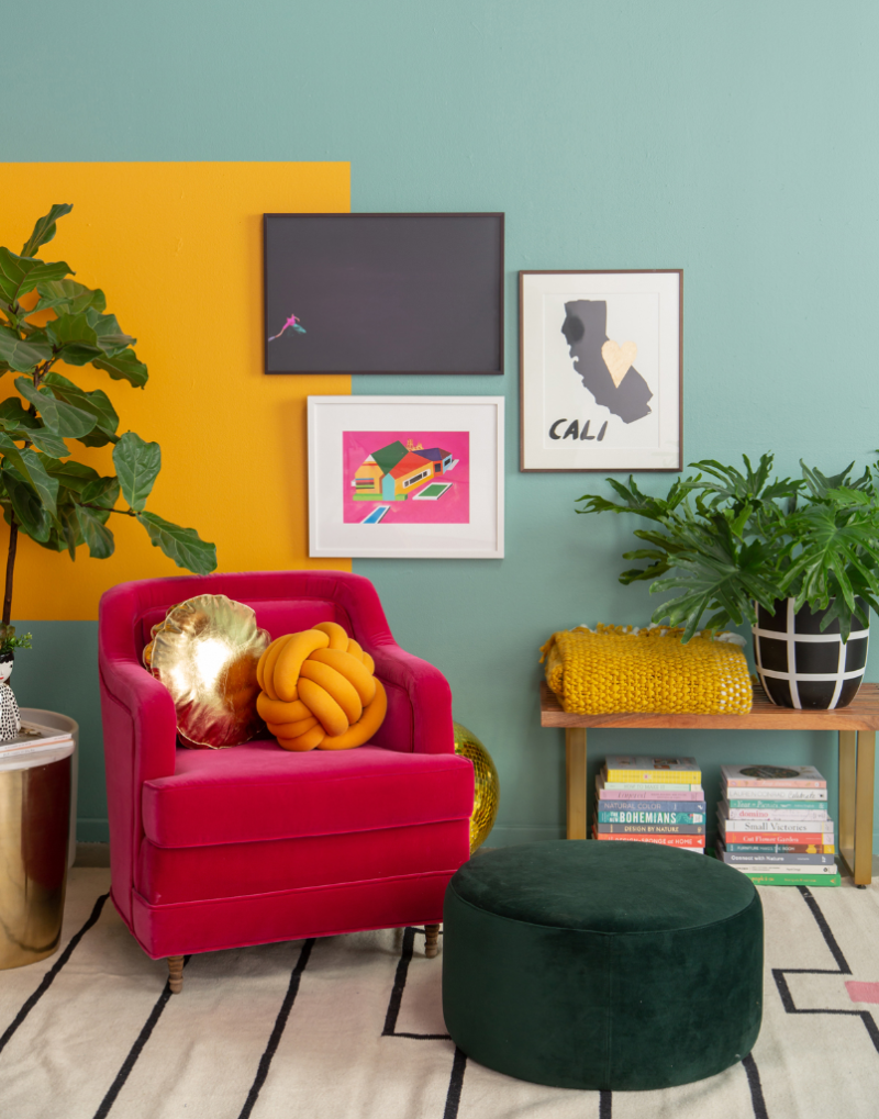 Pattern Adventures: A Color-Blocked Corner... / via Oh Joy!