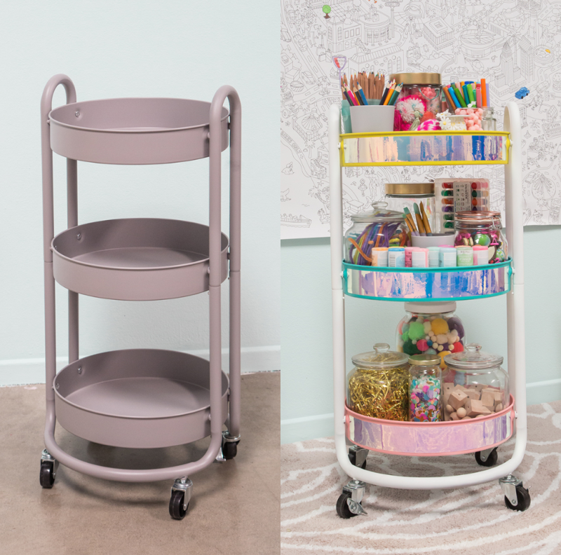make a kids' craft cart / oh joy!