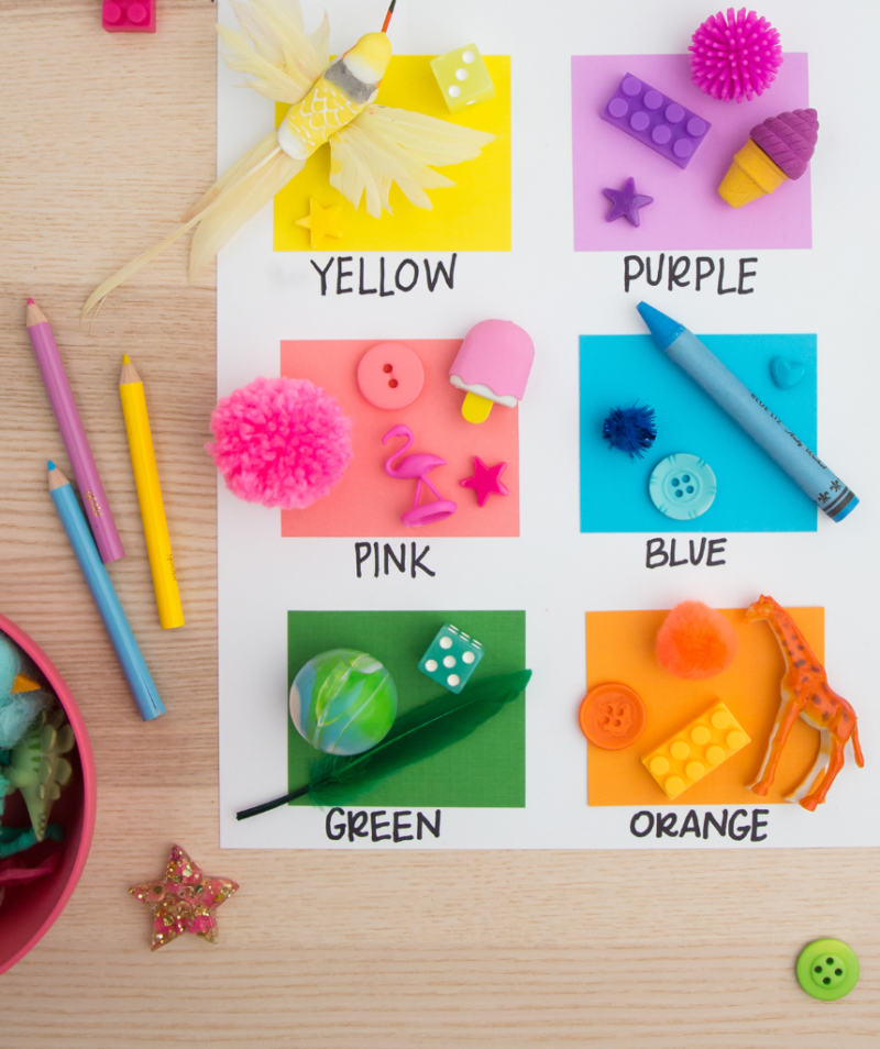 A Color Scavenger Hunt Game for Kids / via oh Joy!