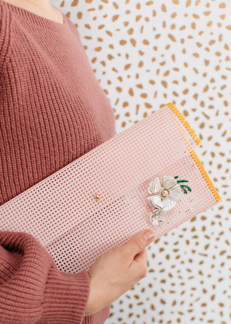 How to Make a Mesh Clutch... / via Oh Joy!