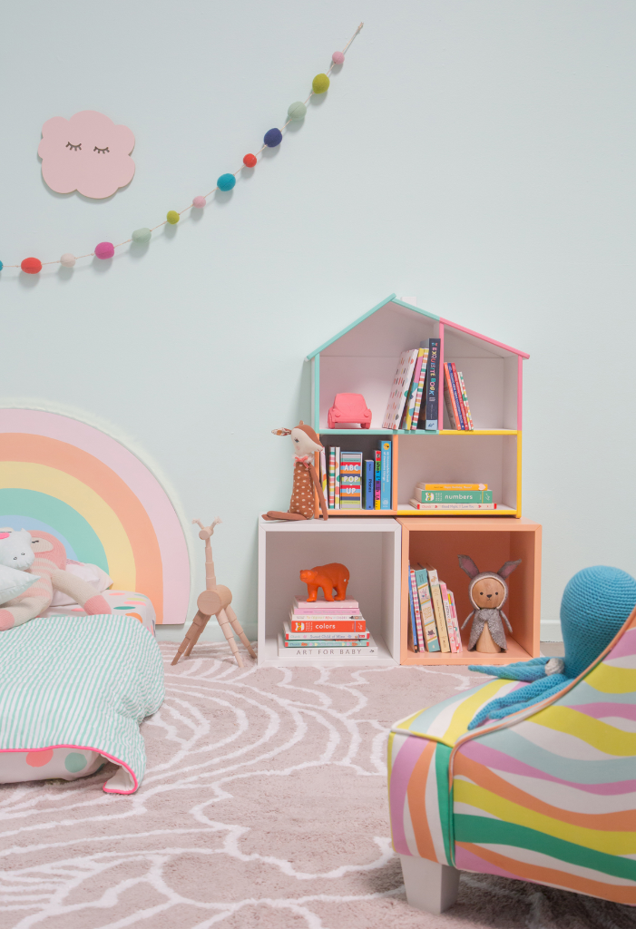 Pattern Adventures: A Rainbow Bedroom! / via Oh Joy!