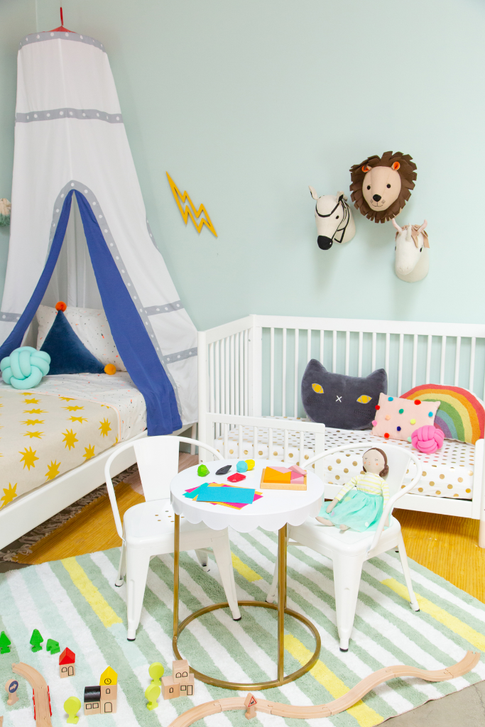 a gender neutral shared kids' room / oh joy!