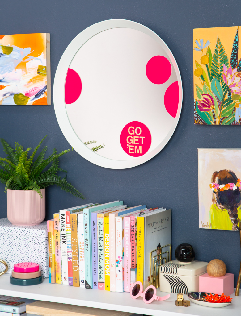 A Fun DIY Mirror Decal / via Oh Joy!